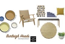BLOG: Moodboard of the Month **Burleigh Heads** / A moodboard tribute to the retro summer vibe of Burleigh Heads and the best new ever that Kiwis can now fill their homes with Adairs goodies : )