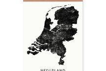 Nederland en provincie posters