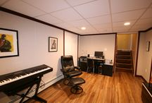 A Musicians Paradise /  This modest basement remodel with the Owens Corning Finishing System makes for a perfect studio that would suit any musician.