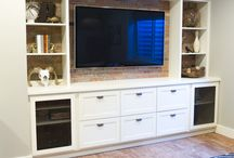 TV unit built in