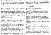 Speeches/Vows