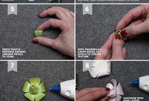 Цветы бумажные и пр