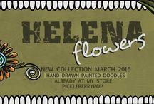Helena Flowers / Enjoy these fabulous digital doodles.