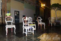 De patitas en la calle / Taller - Workshop / Taller de reciclaje creativo. Si quieres saber más sobre cómo recuperar sillas u otros muebles de una forma sorprendente, visita nuestro blog http://lastressillas.com/las-sillas-toman-las-calles-de-valencia-con-nuestro-taller-de-reciclaje/