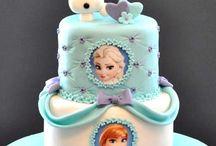 Eiskönigin Geburtstagskuchen