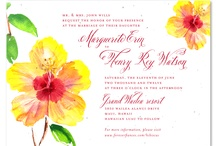 Destination Weddings / Get ready for your destination wedding! Create your custom wedding invitations, using unique seeded papers, plantable into wildflowers. Choose from popular destination wedding themes like beach, tropical forest in Hawaii or Brazil, Caribbean islands, or in a winery (Napa or Sonoma?). Getting married in France or on the slopes on the Colorado Rockies, you'll find the right theme for your special day.