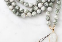 Moon Dancer Mala / Mala bead necklaces for meditation and crystal healing | Meditation for beginners | crystals and stones | inspired by: beach night, glass of wine, and the waves washing over your feet