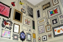 Display It / Great kids' artwork display ideas.