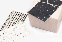 Mini kaartjes zwart / wit