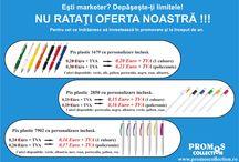 Pixuri cu personalizare inclusa / 3 modele de pixuir plastic cu personalizare in policromie la pret de lista a produsului neprsonalizat Minim 500 buc.