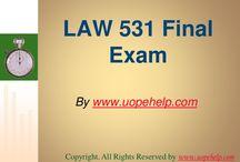 LAW 531 Final Exam Latest UOP Tutorials