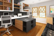 Home Offices / Here's a collection of our favorite home office design submissions from contests hosted on Arcbazar.com. Hopefully some of these designs will inspire your next project!