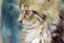 pinturas de gatos