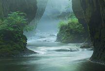 Morze, jaskinia, skała