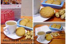 galletas de cacahuete / galletas de cacahuete fácil receta paso a paso.  http://www.golosolandia.com/2014/10/galletas-de-cacahuete.html