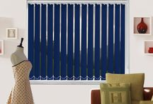 Vertical Blinds / They're ideal for sliding doors where large expanses of glass can otherwise reduce your home's energy efficiency.