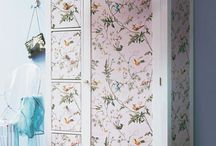Wallpapered wardrobe ideas