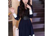 Kleid dunkel blau