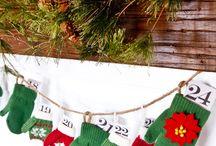 Advent mitten calendar