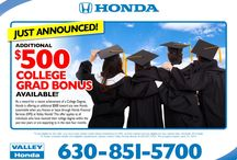 Valley Honda Specials / Current Valley Honda specials, including service, sales, parts, leases and more.