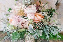 Gorgeous Flora / Flowers!  Wedding bouquet, centerpieces, boutonnière