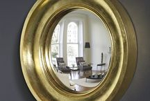 Convex mirror designs / A wide selection of our convex mirror range. All of the mirrors are hand-crafted to order and come in a range of standard finishes. As they are made to order, you can choose your own bespoke finish for your bespoke interior. The frames are from small round mirrors to strikingly large round mirrors, in both small convex mirror, large convex mirror and flat mirror round mirrors. Made in the UK. We ship world-wide. Mirrors sold exclusively at Omelo Mirrors.