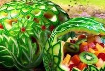 Meloenen decoratie