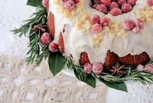 Christmas cakes.
