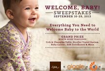 Welcome, Baby! / Tea Collection, Ergobaby, giggle, Orbit Baby and Skip Hop pin their favorites for baby to celebrate their Welcome Baby Sweepstakes!
