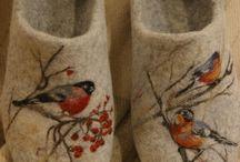 chaussons laine feutrée