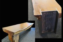Benches,  chairs, stools, ottomans / Benches, stools, chairs in a variety of woods such as walnut, cherry, madrone, western cedar, elm, from The Island Gallery's NW wood artists. Live edge, contemporary styles and custom pieces upon inquiry.