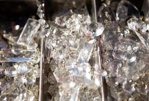 Crafting --  Vintage Chandelier Crystals / One can never have to many pretty crystals...can they?