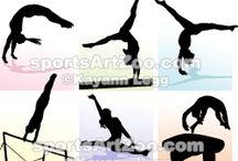 Gymnastics / Gymnastics Illustrations, Clipart and Designs