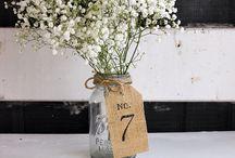 Wedding - table numbers & seating
