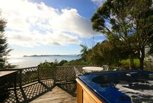 Dolphin View - Overlooking Long Beach / Situated in a non exit street, overlooking Long Beach and out across the Bay of Islands.  The cottage is almost hidden from the road in established native trees, which add to the privacy. Only when you get inside, or around the front of the house do you then see the wow factor.