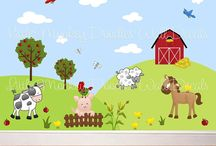 Baby & Ideas / Farmyard themes for baby boy's bedroom and first birthday party/cake!