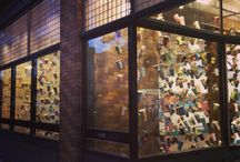 1001 Coffee Cup Stories for ArtPrize / Photos of Gwyneth Leech's Installation for ArtPrize 2014: 1001 original paintings and drawings on the artist's saved coffee cups. Vote Code: 56642.