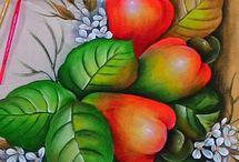 pintura sobre tela