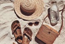 Boho style. Asian accessories. Rattan bags.