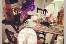 Tea Party for Girls / I has a tea party on my porch for my daughter and her friend to celebrate the start of a new school