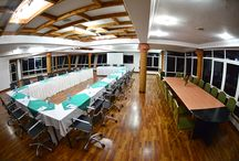 Conference facilities / Forest Cottages' conference and banquet facilities comprise of meeting space the total of 4 separate rooms. These rooms are capable of seating 10 to 200 guests in various sitting styles, and cater to maximum of 150 guests for a reception. For reservations, contact us on Tel:+256 414 287308, +256 414 663710 info@forest-cottages.com