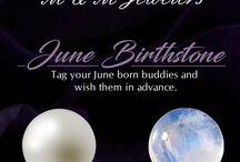 June Birthstone - Pearl and Moonstone