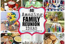 Family Reunion Ideas / Ideas for hosting family reunion  / by Debbie Piercy