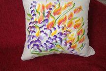 Handpainted pillows
