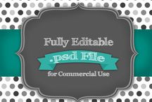 Editable PSD Templates / Showcases files for use in commercial projects for scrapbookers, photographers and small business owners.