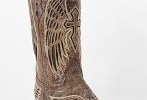 Cowboy boots and knives