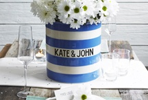 Cornish wedding / Give your wedding a classically British feel with a sprinkling of blue and white stripes.