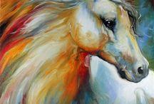 Pastel watercolor charcoal