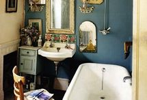 Vintage interior / Kitchen and bathroom