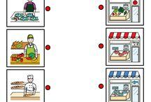 Tiendas, profesiones y productos